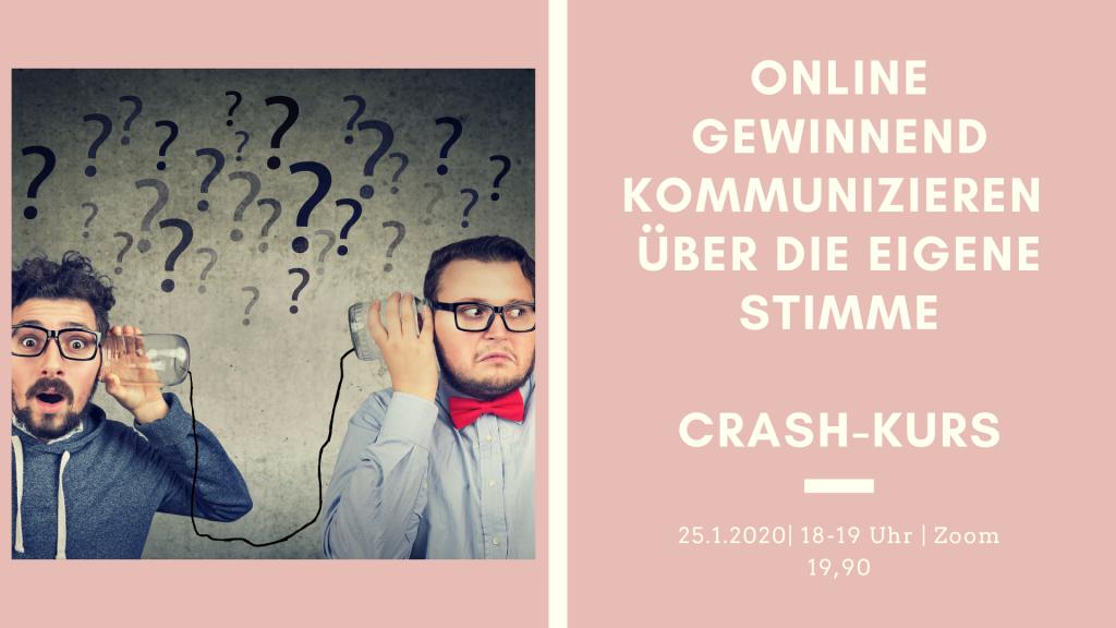 Crash Kurs online kommunizieren