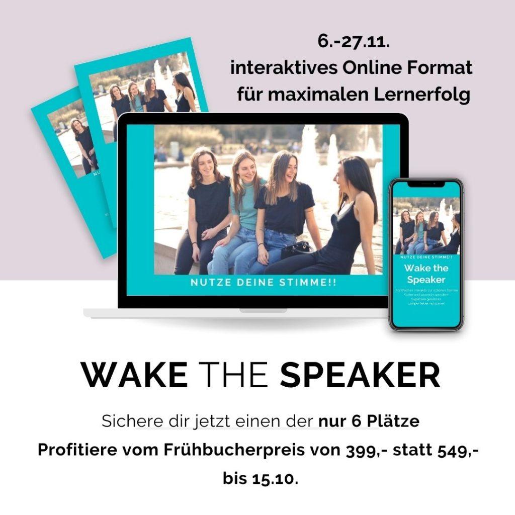 Wake the Speaker - online Kurs Stimme